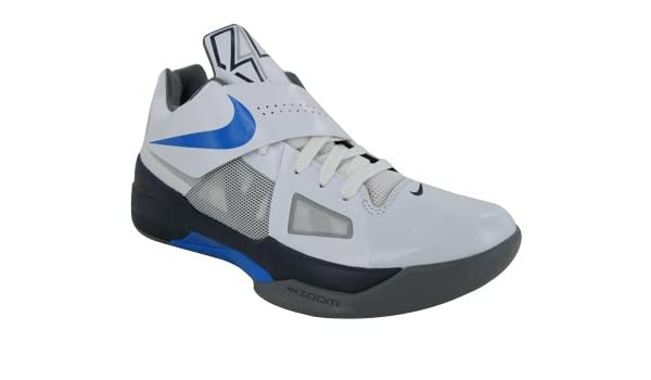 cheaper 81078 a87f9 Amazon.com   Nike Men s Zoom KD IV 473679 100 White Photo Blue Midnight  Navy Cool Grey (Men s 11.5, White Photo Blue Midnight Navy Cool Grey)    Shoes