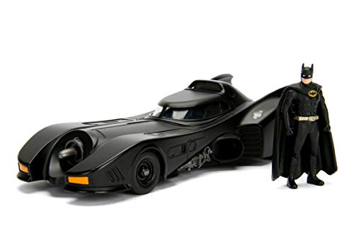 "Jada Dc Comic 1989 Batmobile with 2.75"" Batman Metals Diecast Vehicle with Figure, Black from Jada"