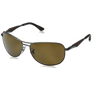 Ray-Ban Polarized RB3519 Sunglasses - Matte Gunmetal Frame/Brown Lens