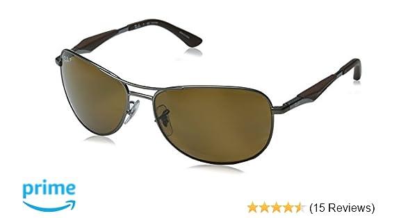 2c99b0fdc63 Amazon.com  Ray-Ban Polarized RB3519 Sunglasses - Matte Gunmetal  Frame Brown Lens  Ray-Ban  Clothing
