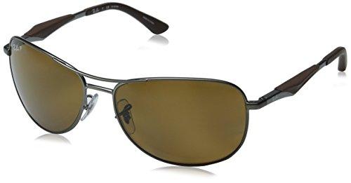 Ray-Ban Polarized RB3519 Sunglasses - Matte Gunmetal Frame/Brown - Rb3519 Polarized