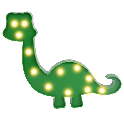 Decorative Dinosaur Night Light Marquee Signs Dinosaur Toy LED Lamp - for Kids Table Dino Lamp Desk Nursery Walking Animal Party Children Room Boys Girl Bedroom Decor Birthday Gifts (Green)