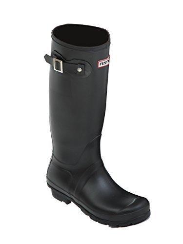 Ladies Wellies 8 Snow 5 Matt Womens Black 7 Festival Wellington Size Boots UK 3 6 Rain 4 rArSxqw