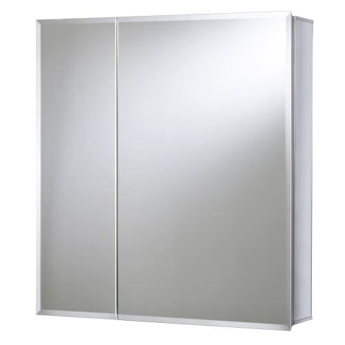 Jacuzzi PD49000 26'' H x 24'' W x 5-1/4'' D Double Door Medicine Cabinet, Silver Aluminum by Jacuzzi