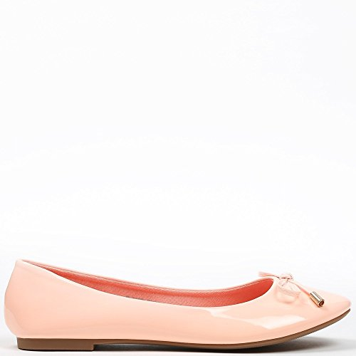 Ideal Shoes–Ballerinas, Lackschuhe, in Farbe, Tahani Rose