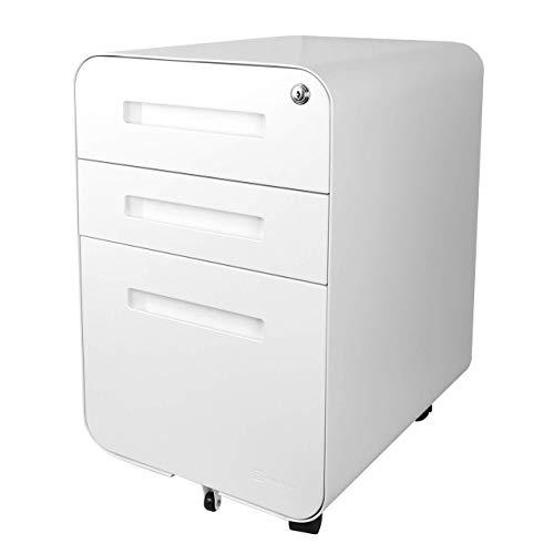 Bindertek Glide 3-Drawer Locking File Cabinet, File