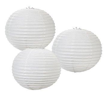 White Glitter Lanterns by CusCus