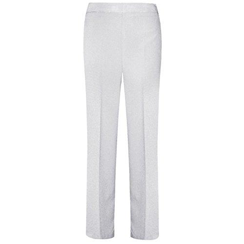 "caccbd647 Women Ladies Trousers Classic Pants Girls School Uniform Half Elasticated  Waist Office Bottoms UK 10-24 Leg Length 25"" 27"" 29"""