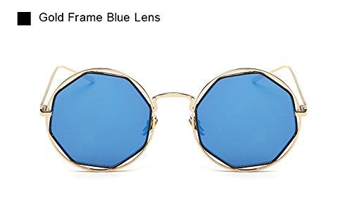 Marco roja Octagon Gafas Vendimia Lente la Sol Las de Pynxn Espejo de Metal de Forma Oculos Dise de de Sol Llegada del New Mujeres Gafas o Lente Azul UV400 AO2046 Eyewear 66qBx1fPHw