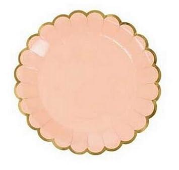 Amazon.com: Artlalic 8pcs Candy Color Dinner Paper Plates Party ...