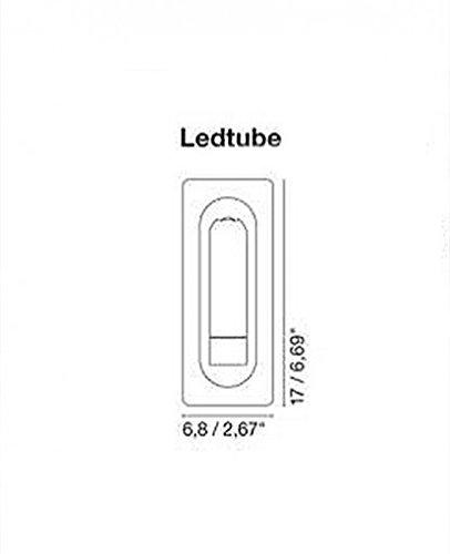Ledtube Wall Light - 110 - 125V (for use in the U.S., Canada etc.), Black