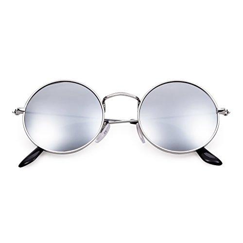 Adewu lentille Unisexe Métal A Transparentes En Lunettes Argent Retro À cadre Vintage Rondes r7xaBwrq
