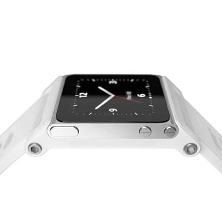 883aeee63758d Alien Work pod2 Watch Bracelet pour iPod Nano 6 Kits de Watch Montre  Aluminium Blanc an607–01