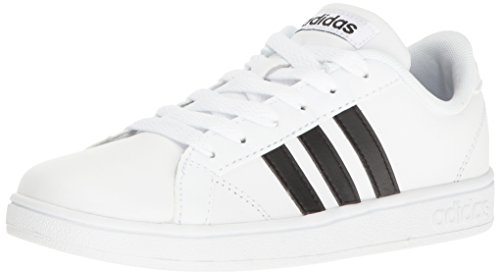 adidas Performance Unisex-Kids Baseline Sneaker, White/Black/White, 5.5 M US Big Kid - Cup Sole Sneaker