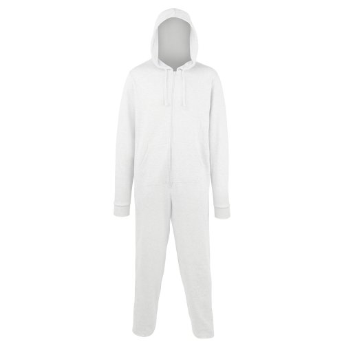 Comfy Co Unisex Plain Hooded All in One Onesie (280 GSM) (L/XL) -