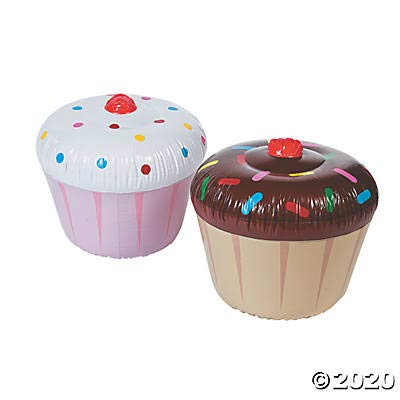 3 pc Inflatable Cupcakes - Assorted Styles: Toys & Games