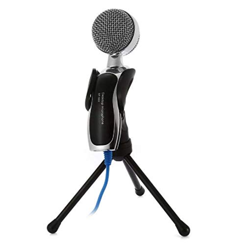 SOUVENIR USB Condenser Microphone for Pc/Desktop/Laptop, Noise Cancellation Mic with Tripod Stand for Streaming, Studio Recording, Singing, Gaming, Podcast, YouTube, Zoom