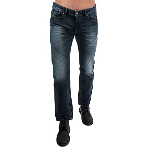 (Diesel Men's Jeans Waykee Regular Straight-Leg Cotton Blue 00S11B - 084KW - 01 (W 36 - L 32) )