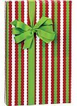 Rickrack Stripe Christmas Holiday Gift Wrap Paper - 16 Foot