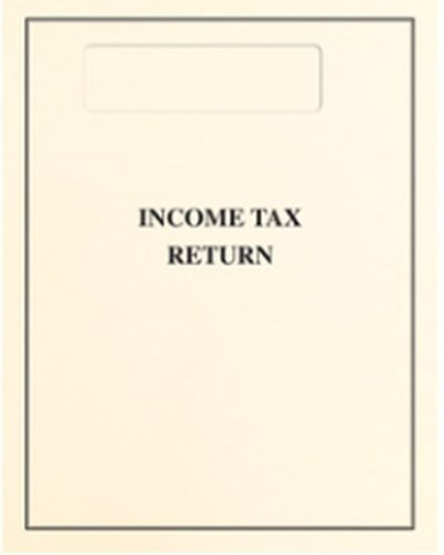 EGP Top-Staple Cover - Official Window - Tax Return Cover (Black)