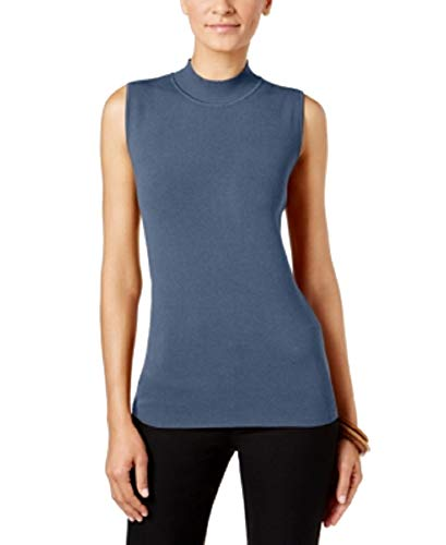 (Alfani Petite Mock-Neck Sweater Tunic (Global Blue, PM))