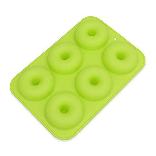 Anlin, molde de donut de 6 cavidades de silicona, bandeja de horno ...
