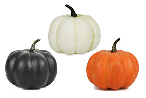 Set of 3 Halloween Decorative Pumpkins! 4.25