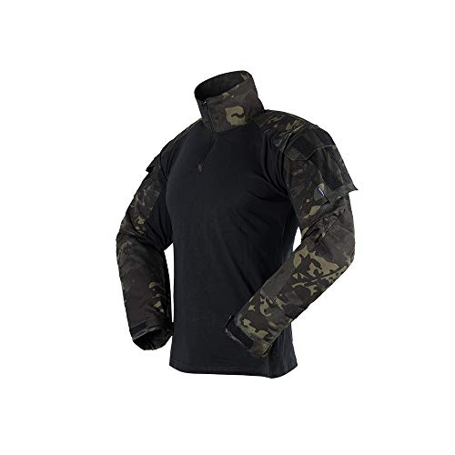 The Mercenary Company Elite Long Sleeve Combat Shirt 2019 Edition (Multicam Black, XL) (Emerson Shirt Black)