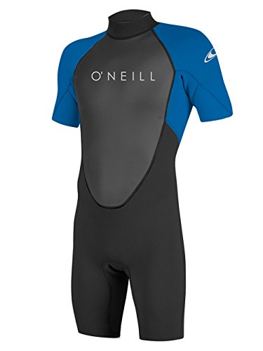 Large Tall Wetsuits - O'Neill Men's Reactor-2 2mm Back Zip Short Sleeve Spring Wetsuit, Black/Ocean, Large Tall