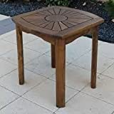 Outdoor Side Table Accent,Wood, Brown