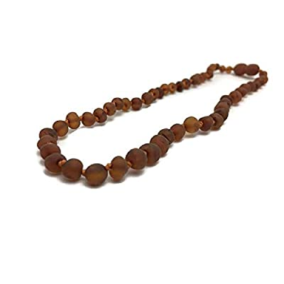 Baltic Amber Necklace 12.5 Inches Raw Cognac : Baby