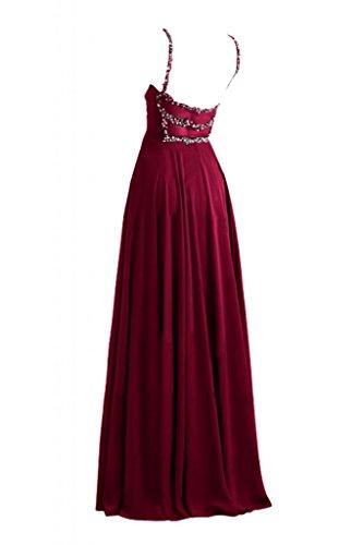 Toscana sposa incantesimo benda Empire stanotte abiti da sposa giovane lontano dalla lunga Chiffon Party Bete ball vestimento rosso vivo 40