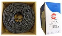qualconnecttm Bulk RG6U Coaxial Cable, Negro, 18 AWG sólido ...
