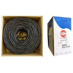 (PcConnectTM RG6/U Coaxial Cable, 18AWG Solid Copper Center Conductor, Copper Braid with 95% coverage, Black, Pullbox, 1000 feet)