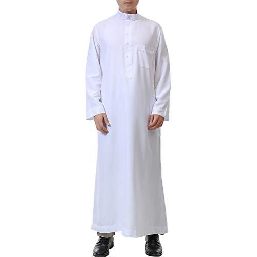 Zhhlinyuan Muslim Saudi Arab Islamic Robe Turkish Thawb Party Ethnic Clothing
