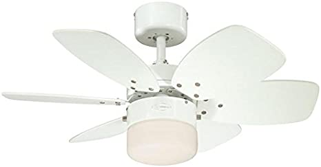Westinghouse Lighting Flora Royale Ventilador de Techo E27, Blanco: Amazon.es: Iluminación