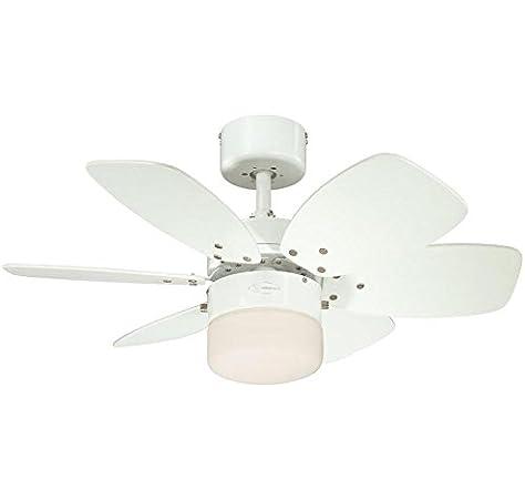 Westinghouse Lighting Flora Royale Ventilador de Techo E27, Blanco ...