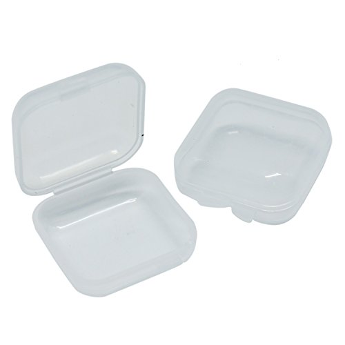 (Buorsa 50Pcs Mini Clear Plastic Small Box Jewelry Earplugs Storage Box Case Container Bead Makeup Clear Organizer Gift )