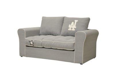 2 Sitzer Schlafsofa Couch Fidschi Stoff Street Grau Amazonde