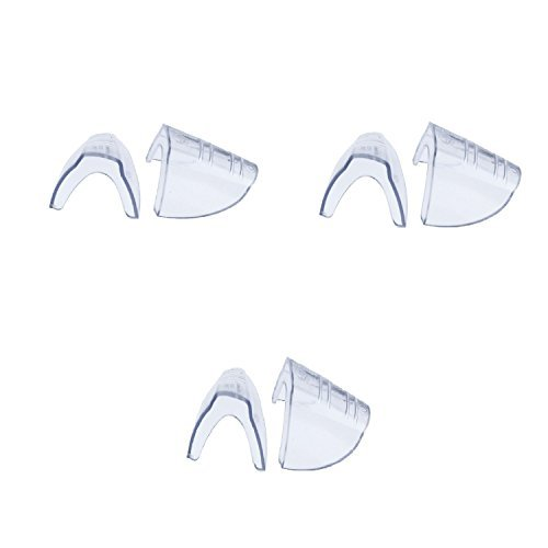 VisionAid 99707-3/Pack H.L. Bouton Slip-On Side Shields for Safety Glasses, Clear Flexible