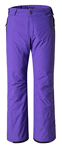 Purple Snow Pants - Wantdo Womens Waterproof Warm Padding Insulated Outdoors Snow Pants Large Purple