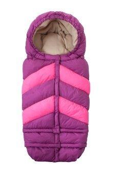 7 A.M. ENFANT Blanket 212 Chevron Footmuff, Grape/Neon Pink by 7A.M. Enfant by 7AM Enfant