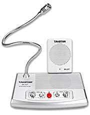 TAKSTAR desktop microphone and speaker set wired microphone bendable arm omnidirectional fully automatic call control design ideal for recording, playback, ticket office, railway station (DA-237)
