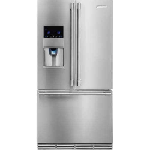 Electrolux Professional 22.6 cu.ft. Capacity Counter-Depth French Door Refrigerator External Ice and Water Dispenser Custom-Design Organization System Energy Star: Stainless