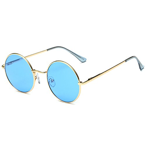 hibote Summer style lunettes de soleil vintage ronde femme Lunettes C6 0UVLD