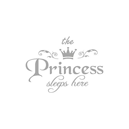 Clearance Sale!DEESEE(TM)The Princess Decal Living Room Bedroom Vinyl Carving Wall Decal Sticker (Gray) (Mirrors Walls Ideas On)