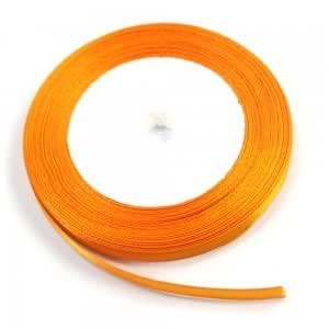 6mm Wide 1 Yard Orange Satin Ribbon