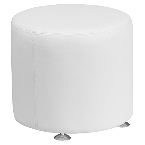 "Flash Furniture HERCULES Alon Series Melrose White Leather 18"" Round Ottoman Review"