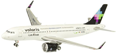GeminiJets Volar is A320neo N528VL Los Rivas 1:400 Scale Model Airplane Die Cast Aircraft (Model Volaris Airplane)