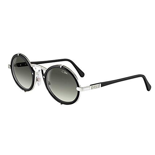 ab91902e7ddc Cazal 644 011SG Matte Black Silver Frame Grey Gradient Lens Sunglasses 53 mm